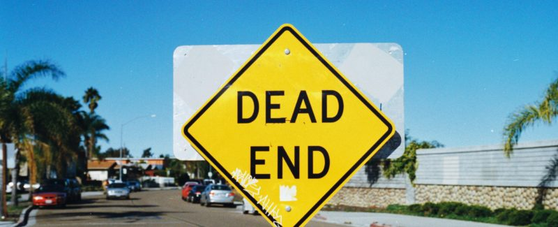 If your relationship isn't solid, you could end up at a dead end sign like this one.